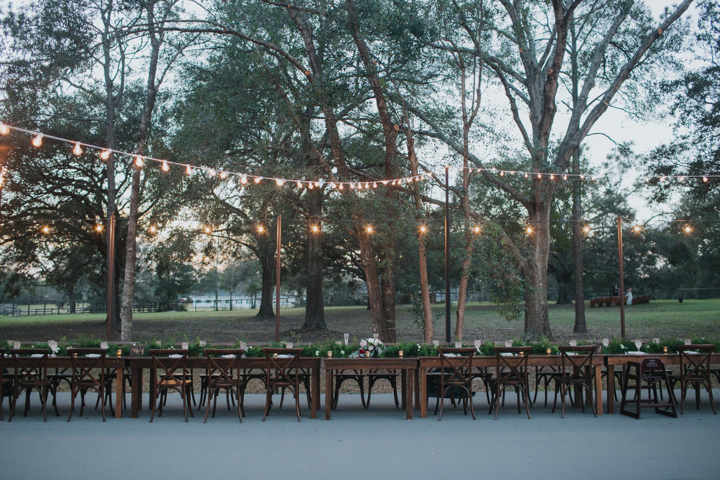 Evening wedding reception at Arundel Estate