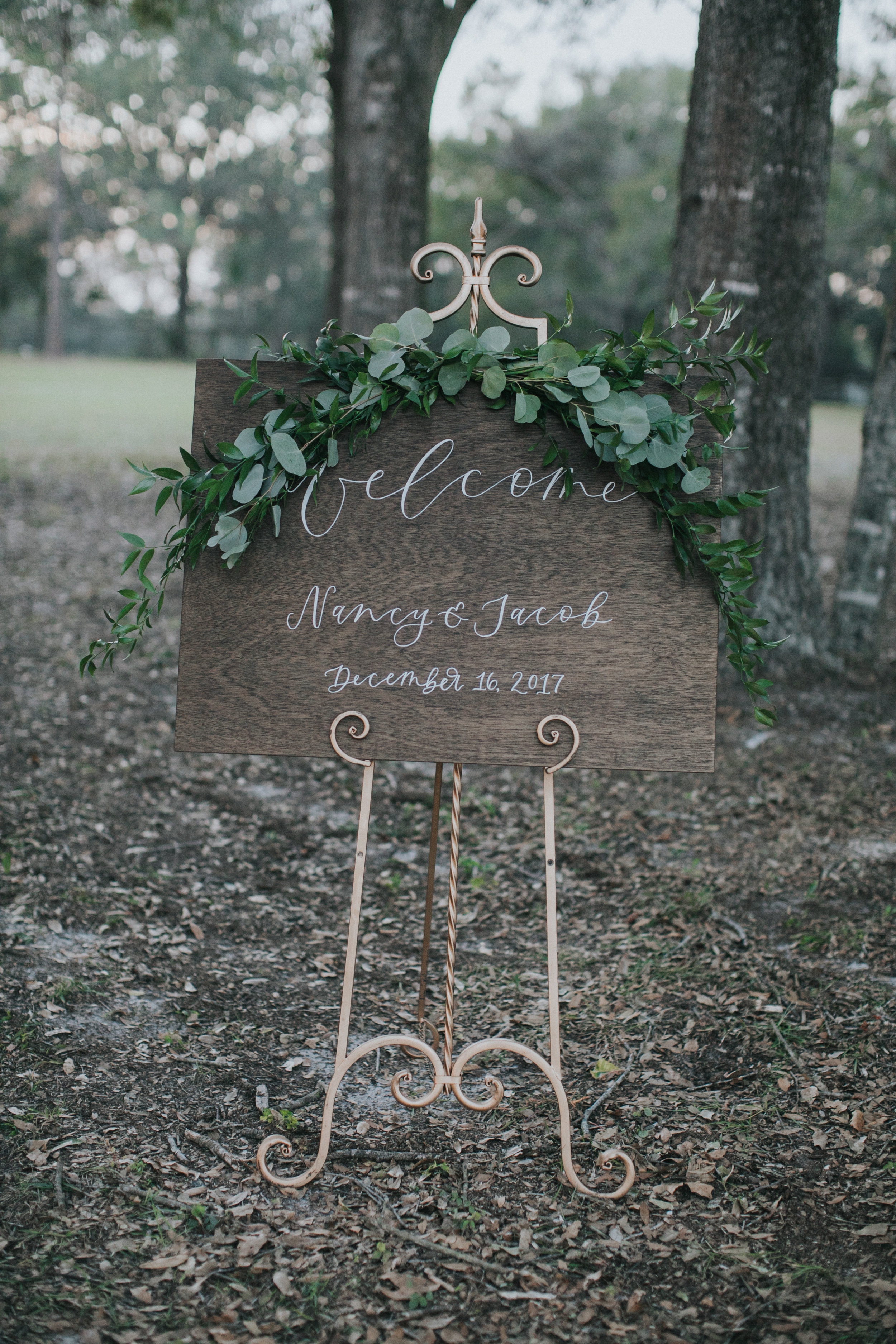 Welcome sign by Lettered Moments