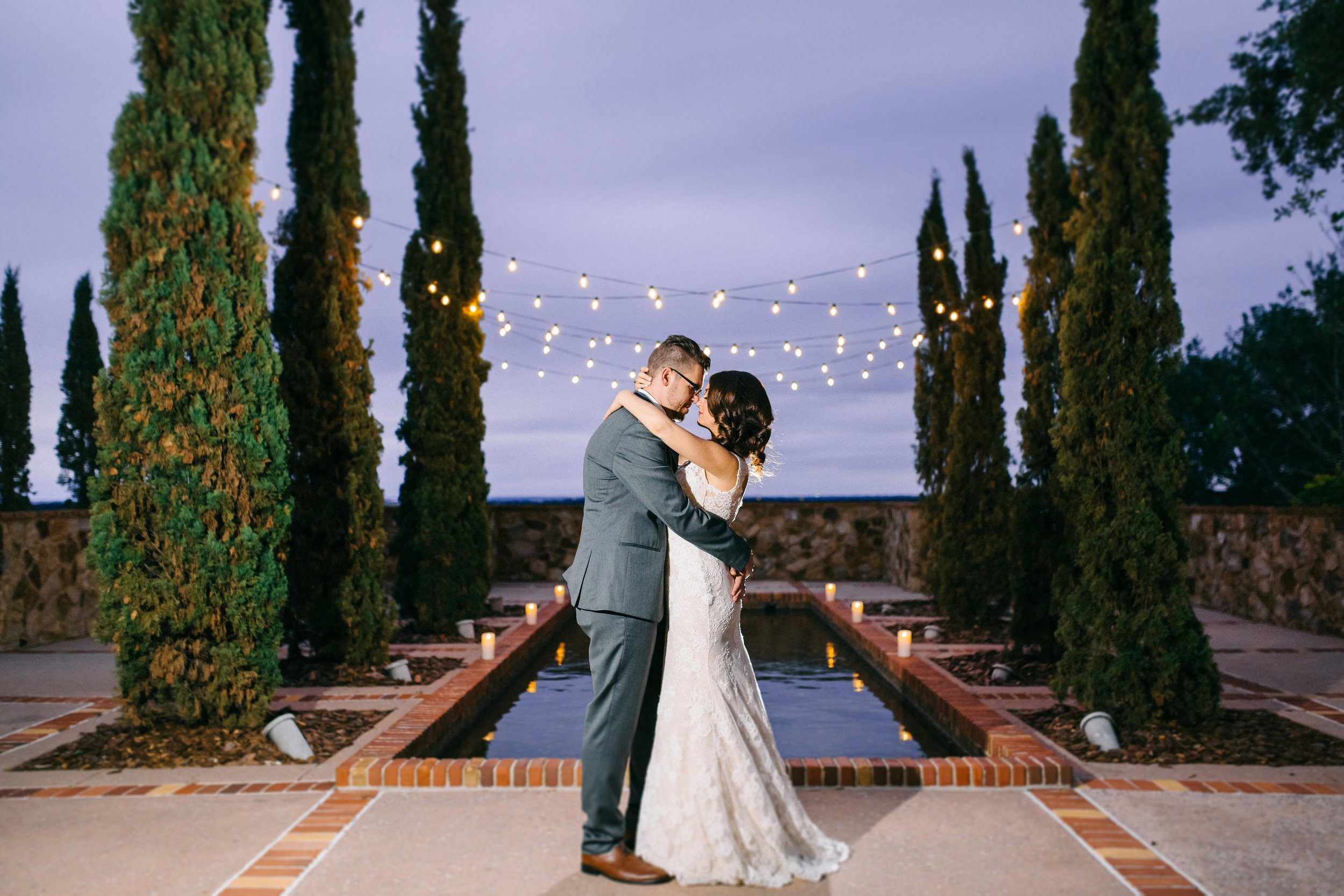Tuscan inspired wedding at the Reflection Pond  Orlando Wedding Planner Blue Ribbon Weddings  Orlando Wedding Photographer Emma Shourds Photography  Wedding Ceremony at Bell Tower at Bella Collina  Wedding Reception in Atrium at Bella Collina