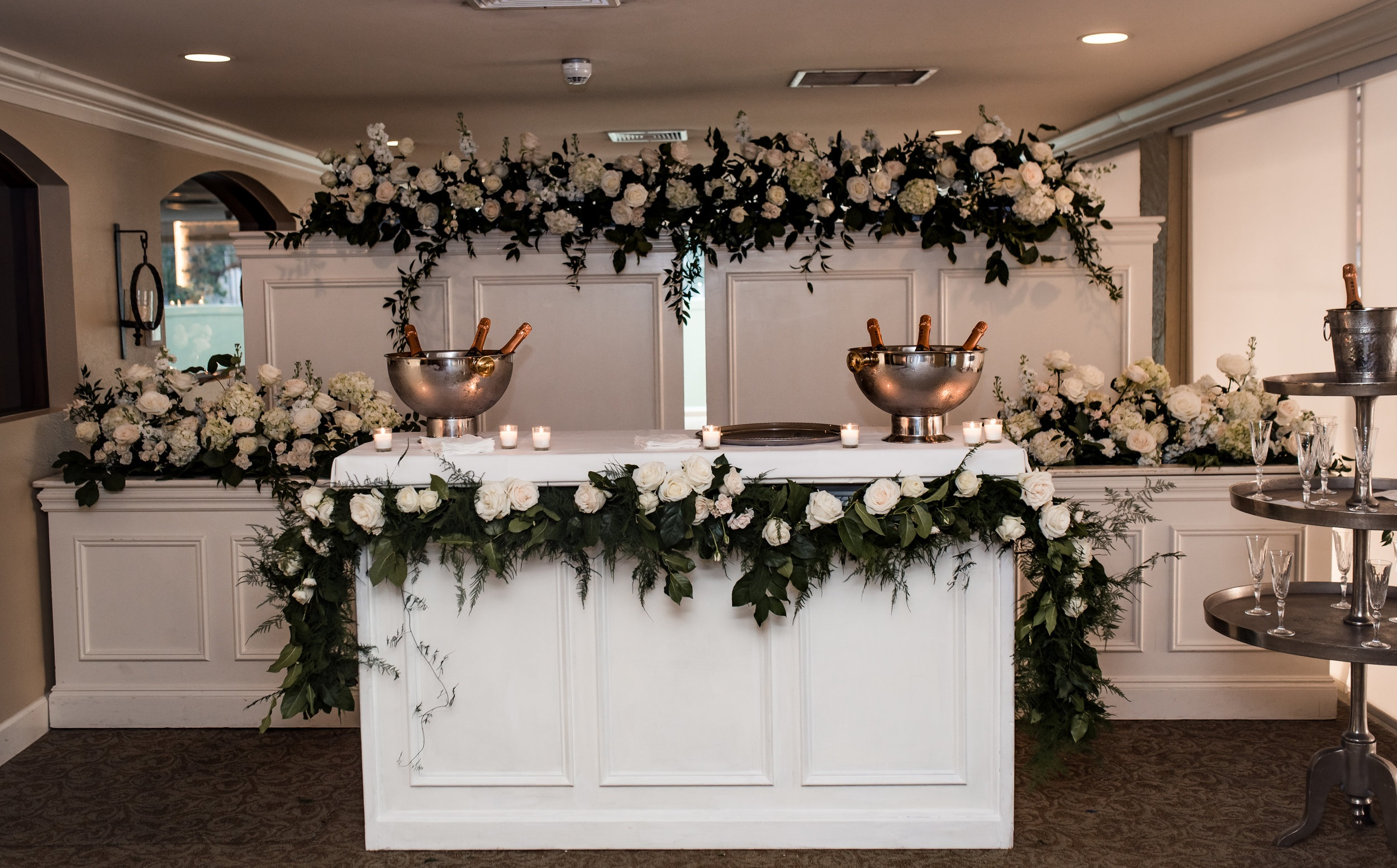 Winter Park Racquet Club Wedding Champagne Display