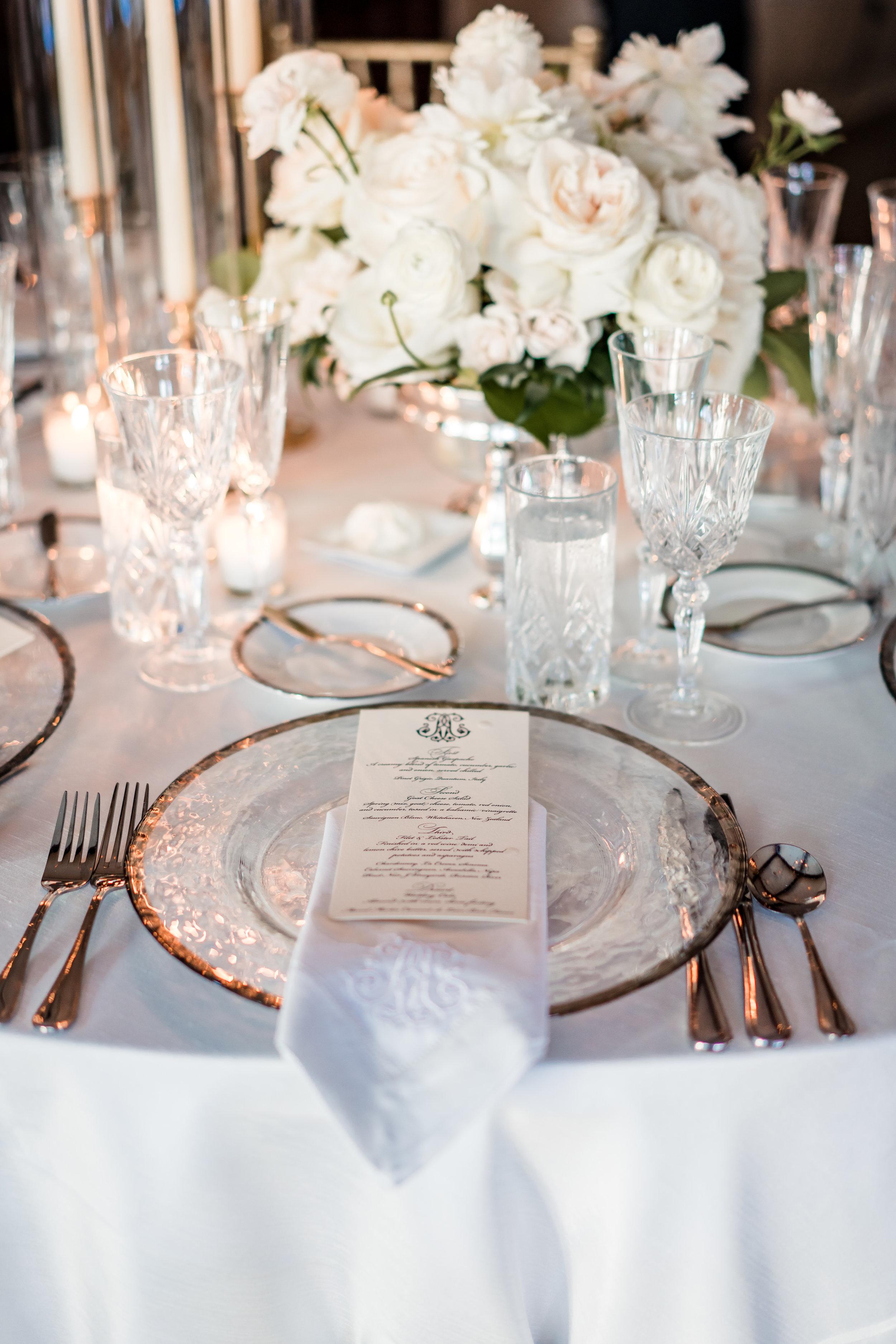 Private home wedding reception