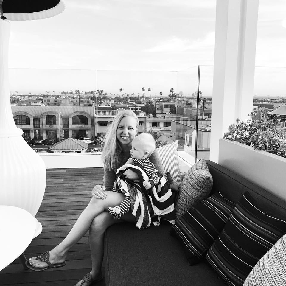 Graham and I topside at the Lido House Hotel in Newport Beach.