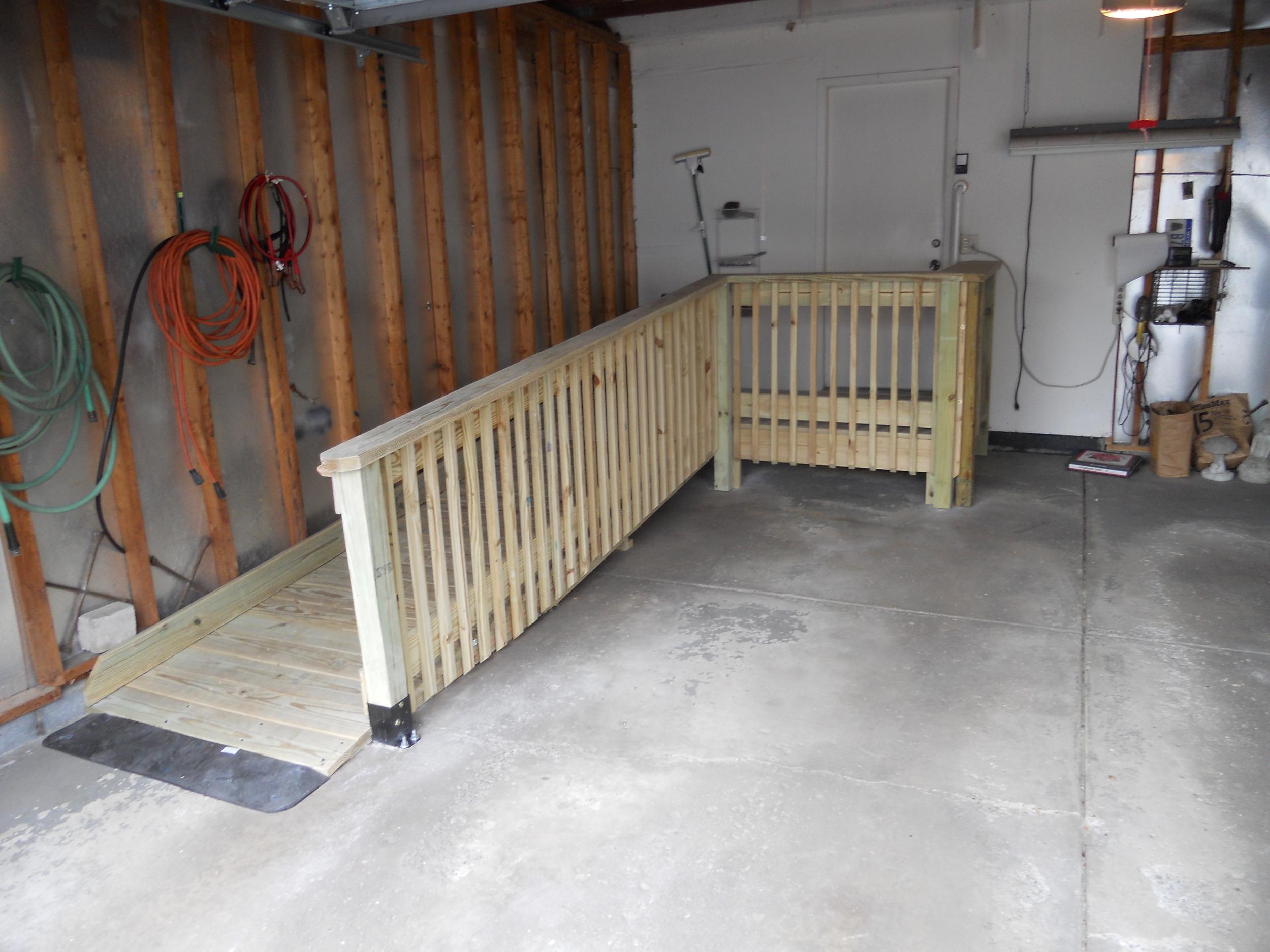 Wood Ramp in Garage