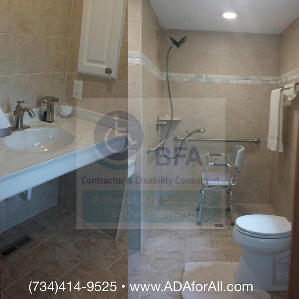 accessible bathroom by BFA llc.