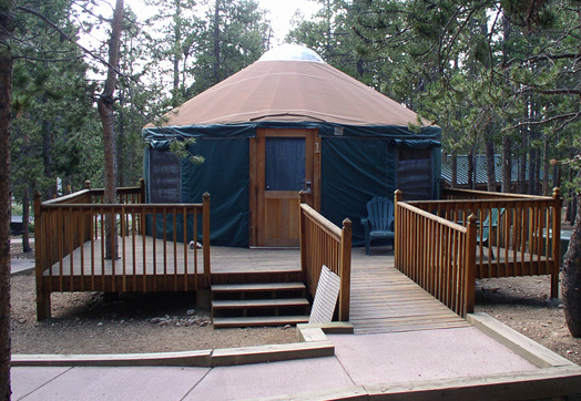 Yurt with an accessible entrance.