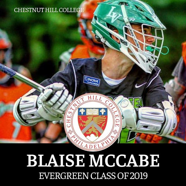 Congratulations to Evergreen 2019's Blaise McCabe on his recent commitment to DII Chestnut Hill College! We are excited to watch you crush it this Spring and follow your success at the next level and become a strong two-way midfielder for CHC! Way to go Blaise! #EvergreenLax #HammersLax #CollegeLax #SgoDips