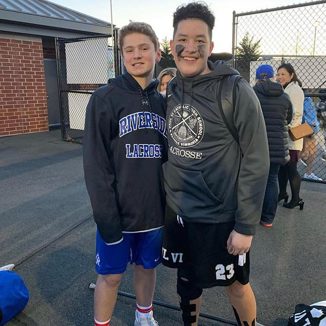 Two of the hardest working kids in our program! Hammers '22 Ethan Lakis (Left) and fellow '22 Hunter Darisse (Right). We wish you both the best on the season ahead! #HammersLax #EvergreenLax #HardWork