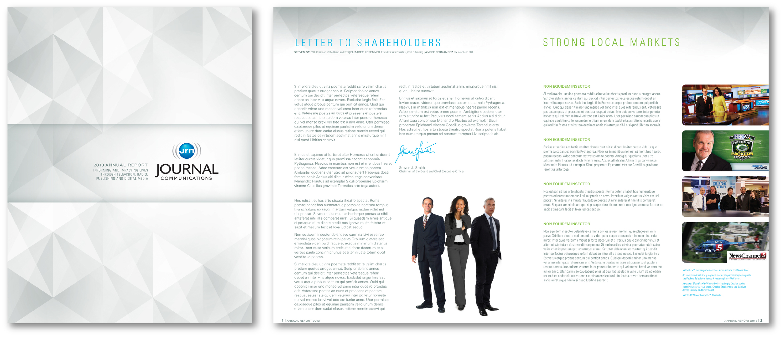 Journal Communications annual report design concept