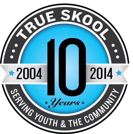 True Skool 10th anniversary logo