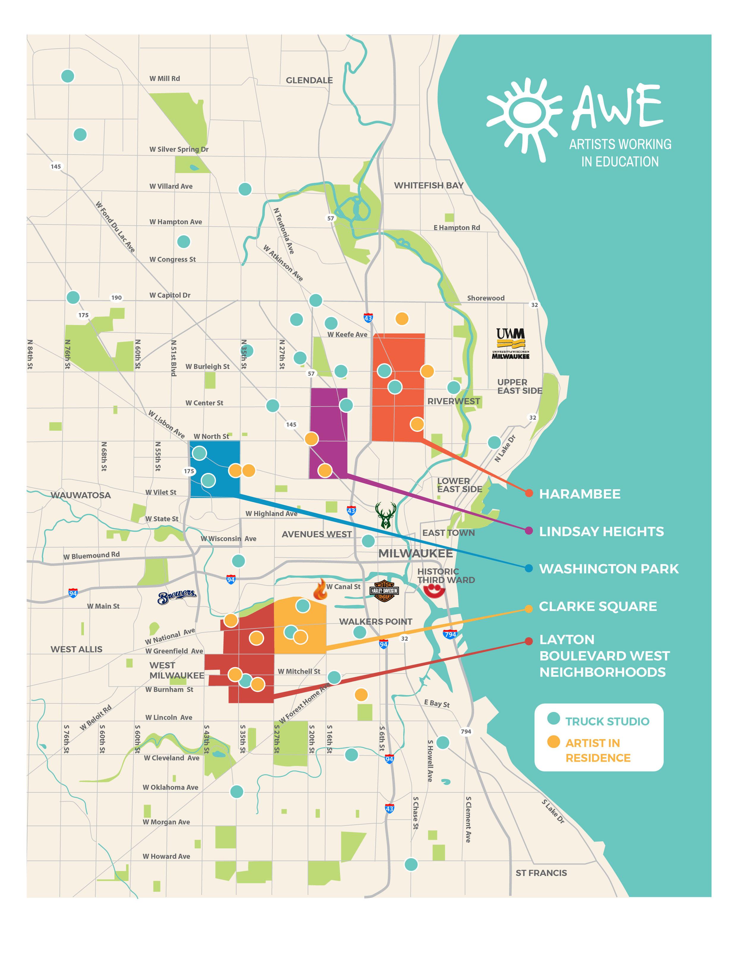 AWE neighborhood map