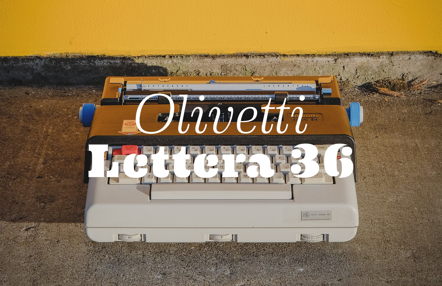 Olivetti's first portable electric. Business in the front, party in the back.