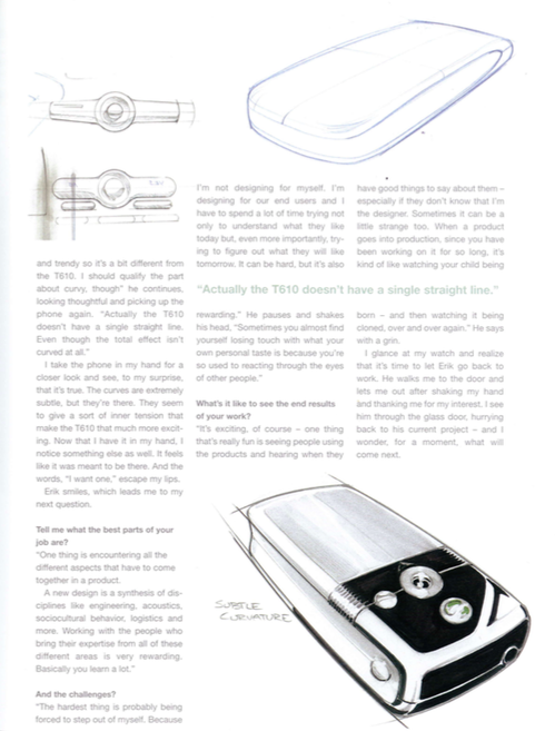 Article about T610 Design (click for pdf)