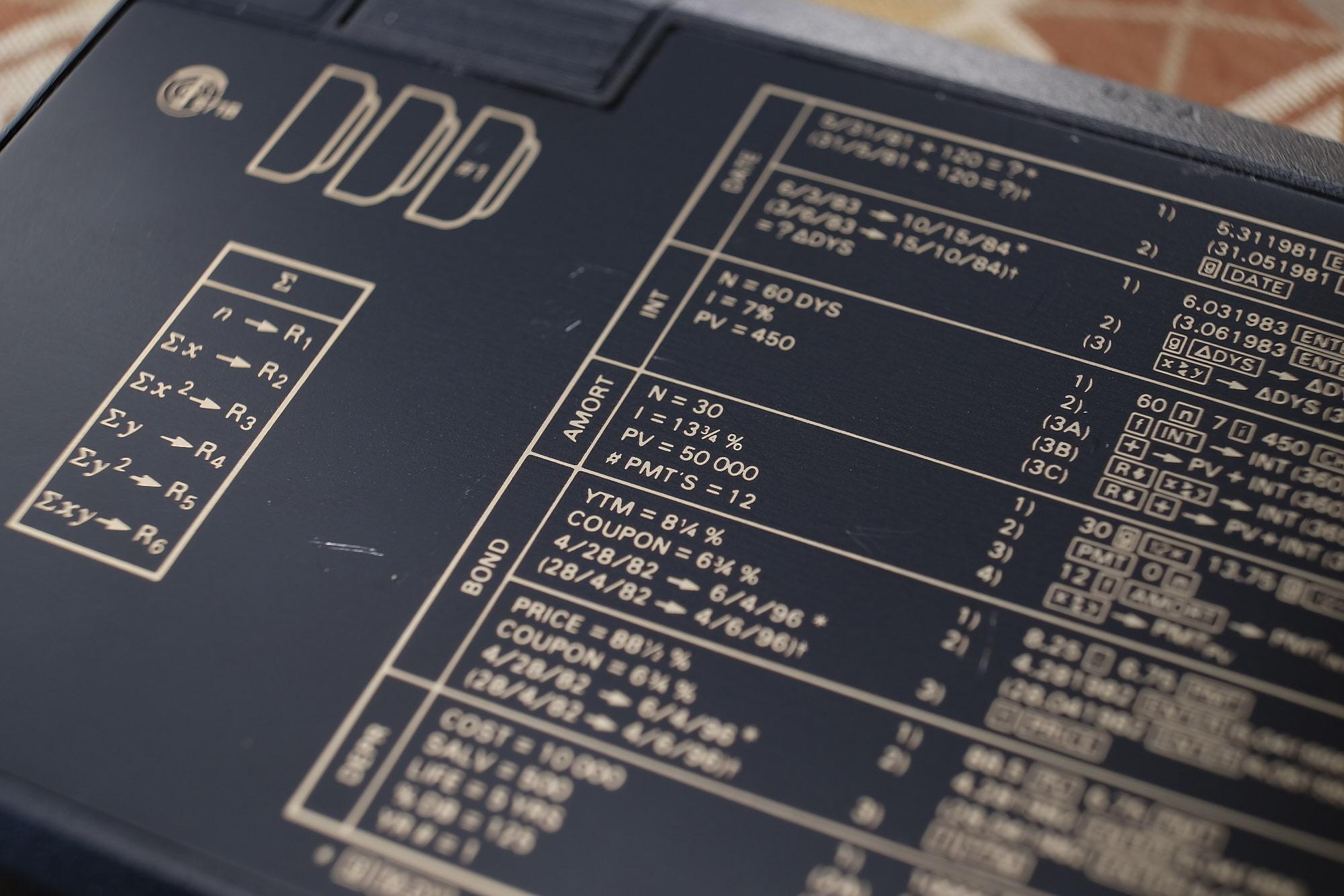 Back panel cheat-sheet