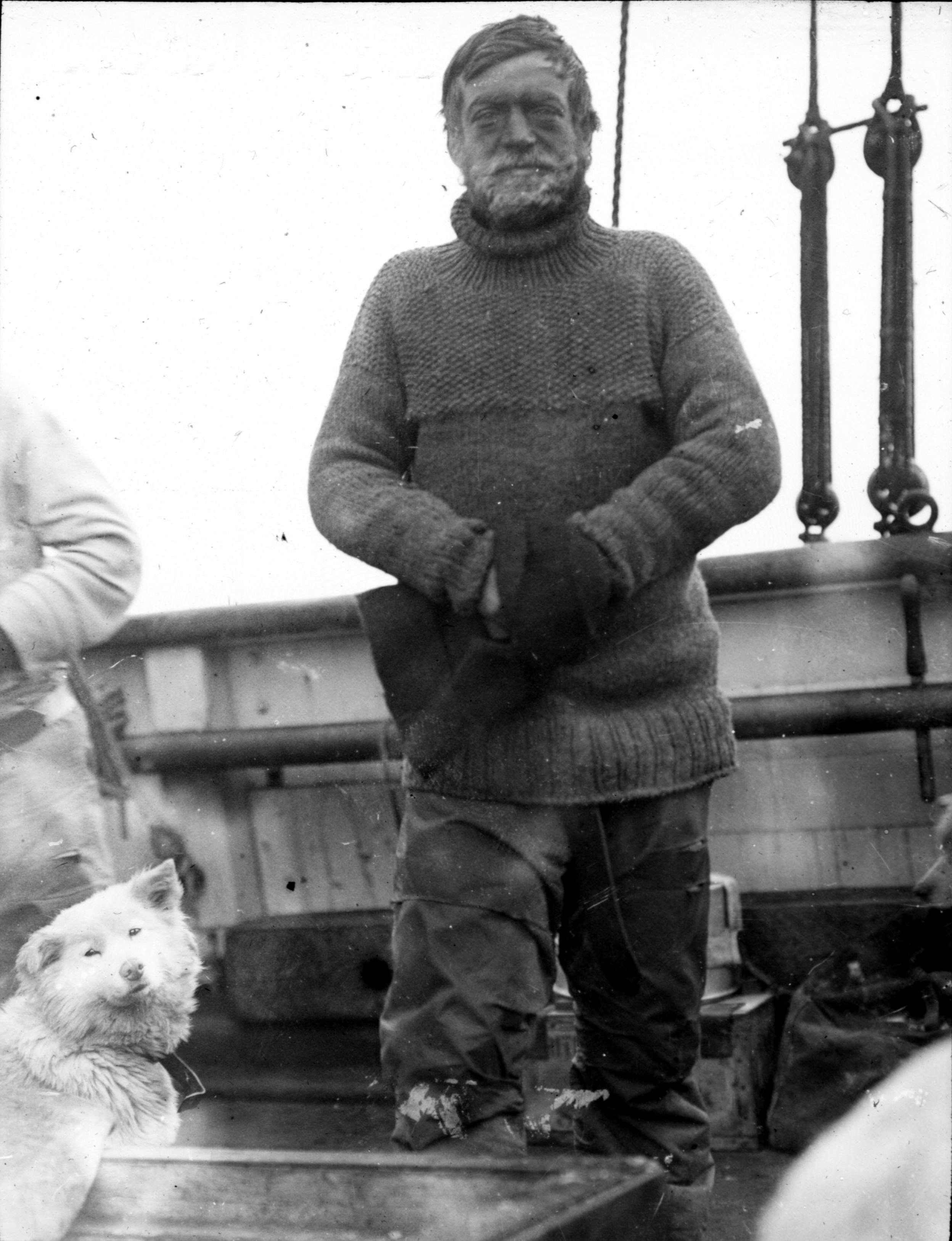 """Ernest Shackleton (1874-1922), British Imperial Antarctic Expedition """"Nimrod - Expedition"""", 1907 -1909  Public Domain, from """"The Heart of the Antarctic"""", Volume I, by E. H. Shackleton, 1909. P. 364."""