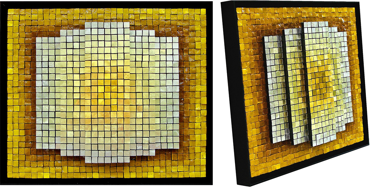 "© 2014 Jacqueline Iskander.   Gold Rising   (2007). 13"" x 15"" 