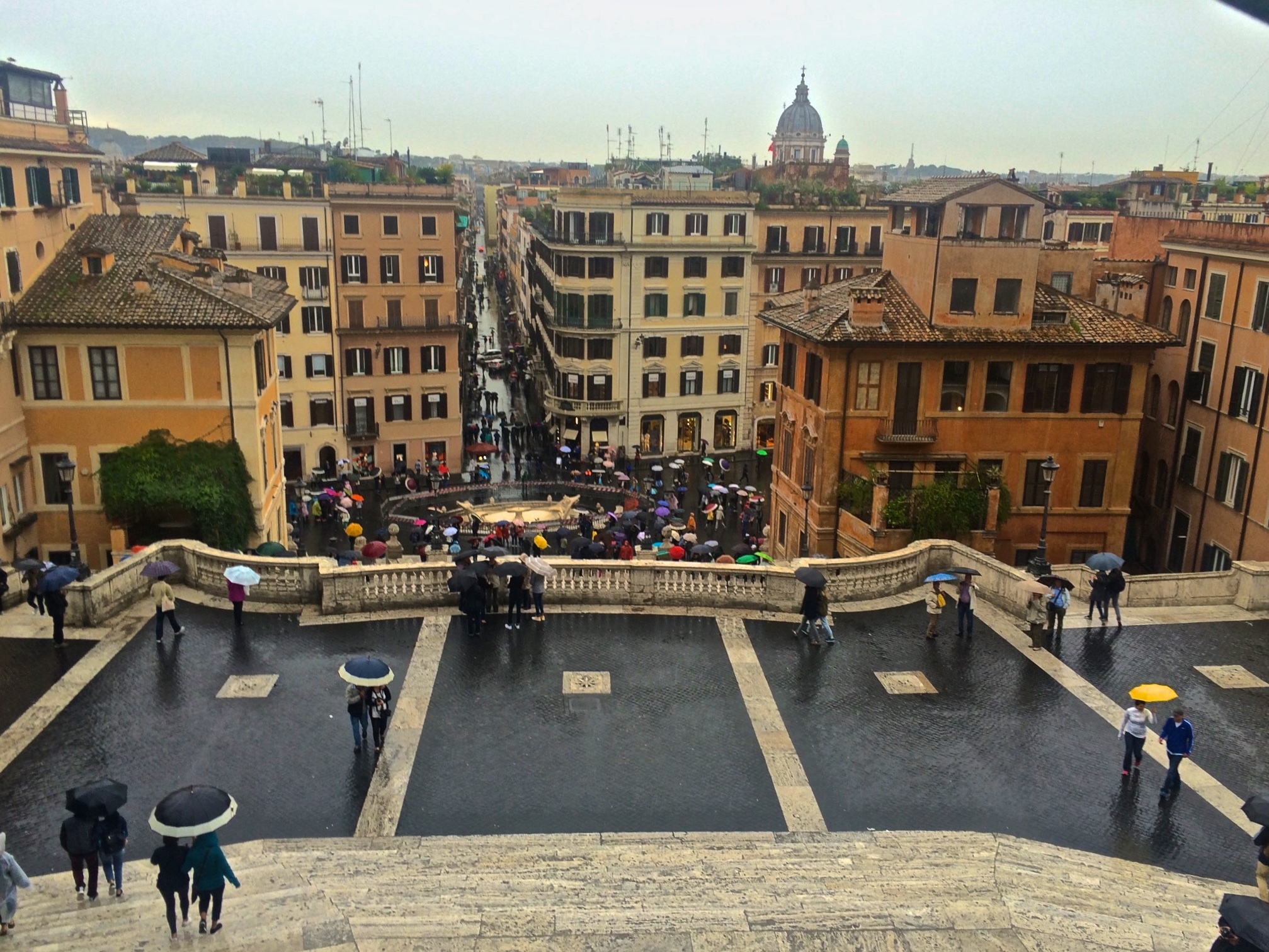 View from Spanish Steps, Rome