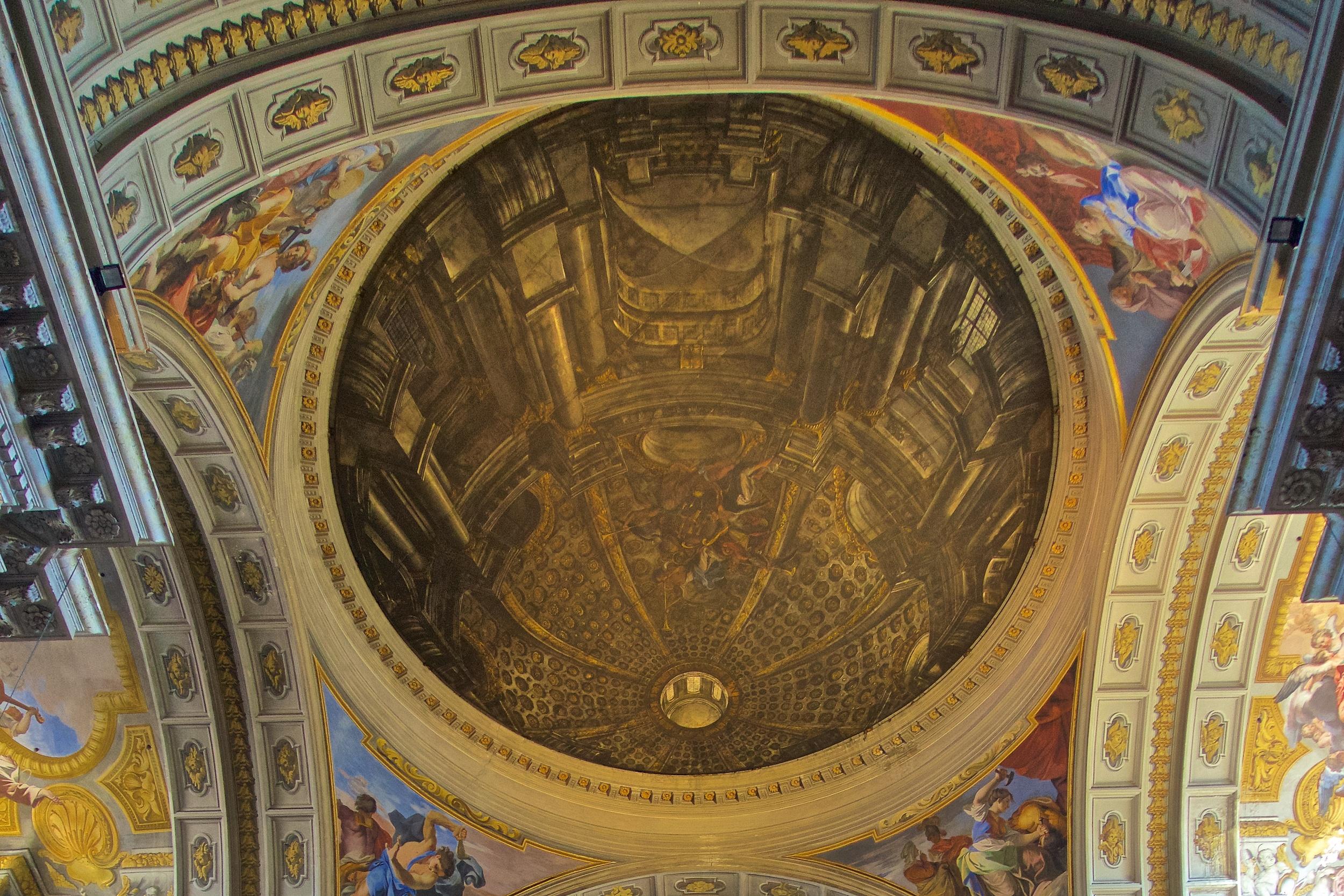 Faux dome, St. Ignatius, Rome