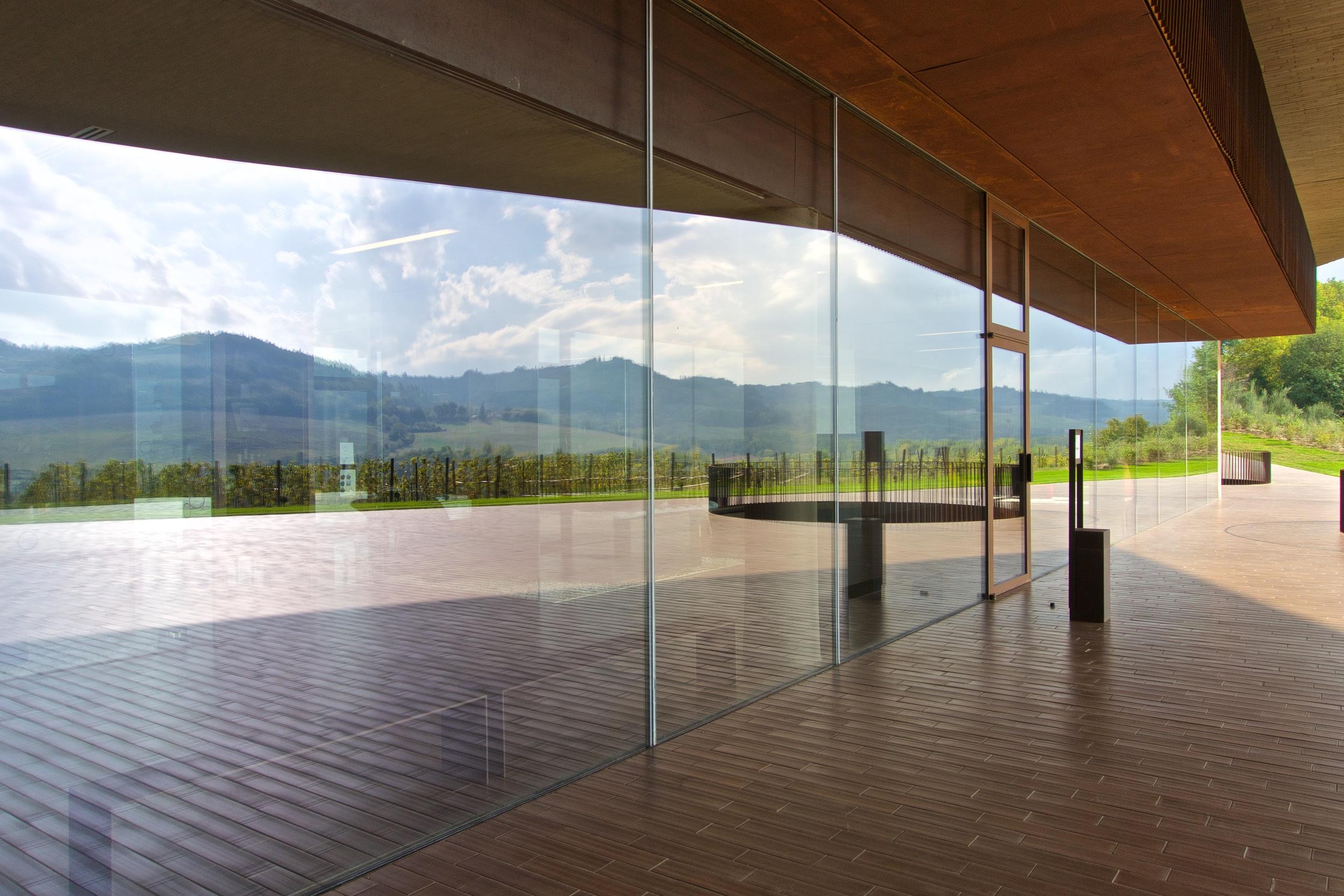 Reflection from Antinori Winery, Chianti
