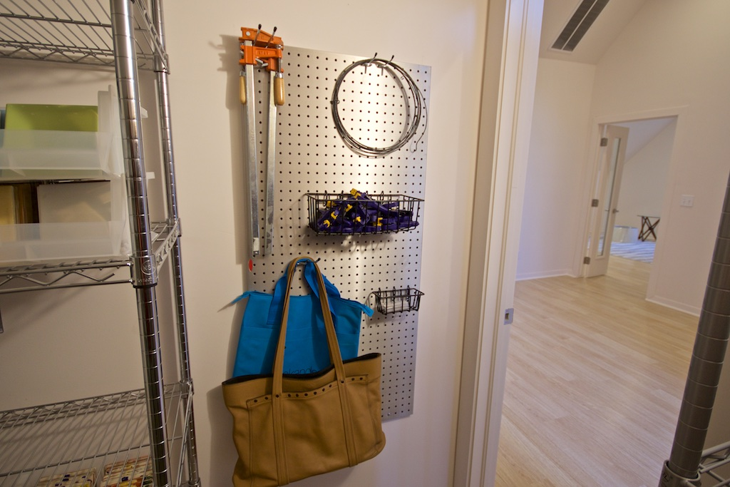 Still inside that same closet.   Love my aluminum pegboard!
