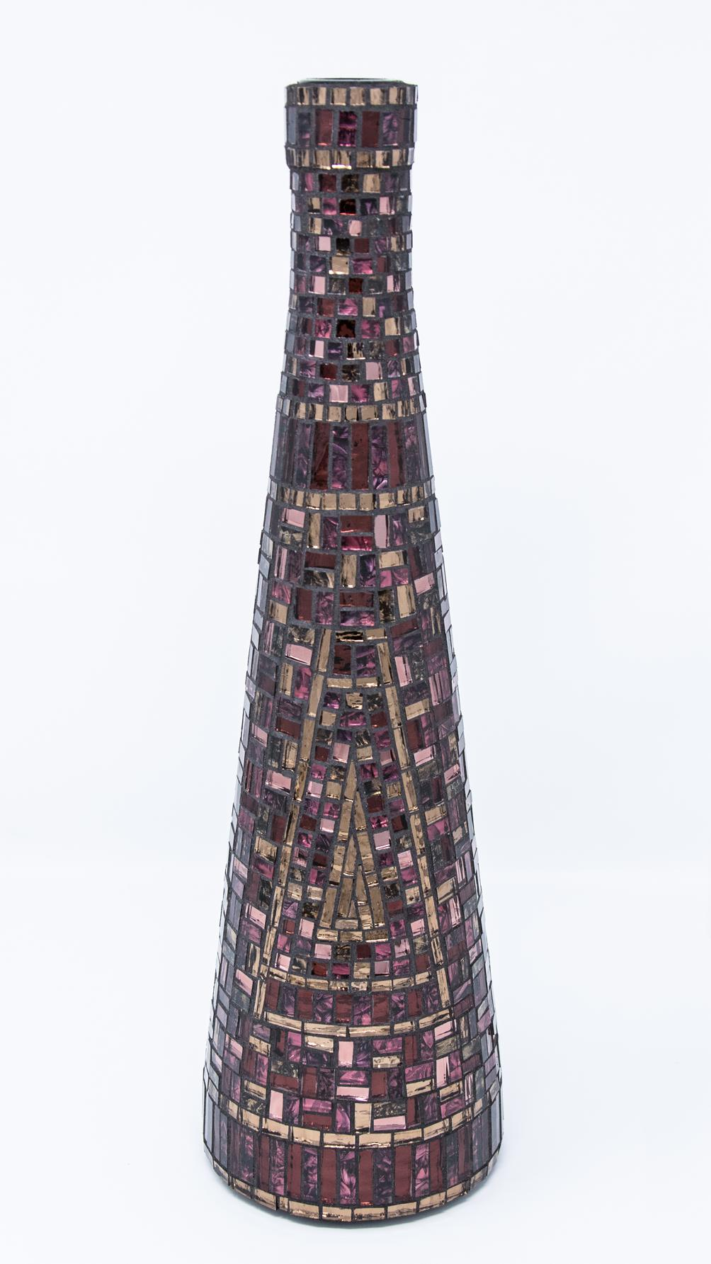 """Bronze, Red, and Purple Bottle  .14"""" x 4.25"""" 