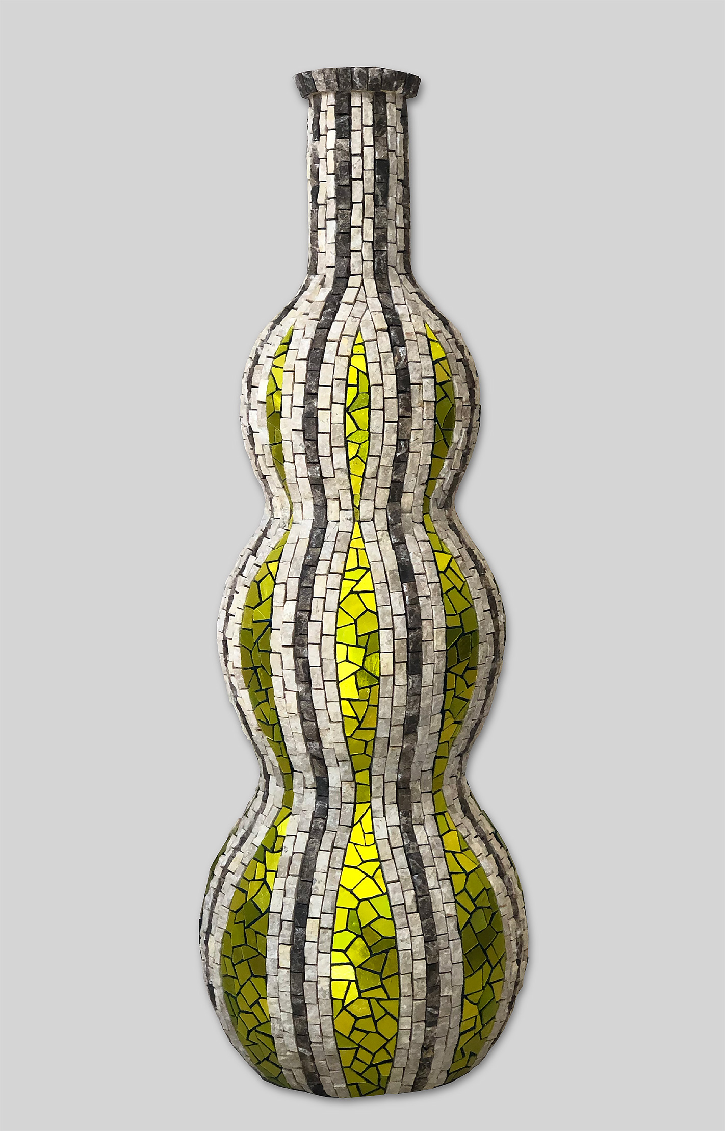 "Marble and Gold Bottle   18.5"" x 6"" 