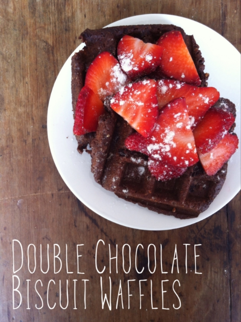 Double Chocolate Biscuit Waffles
