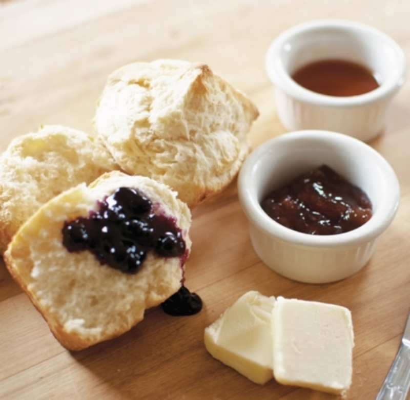 Cream Cheese Biscuits with jam