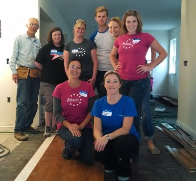 Dominion volunteering with Habitat for Humanity of Kent County. This is only half of us!