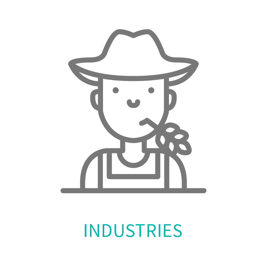 Male farmer head shot representing the multiple industries Dominion's software caters to.