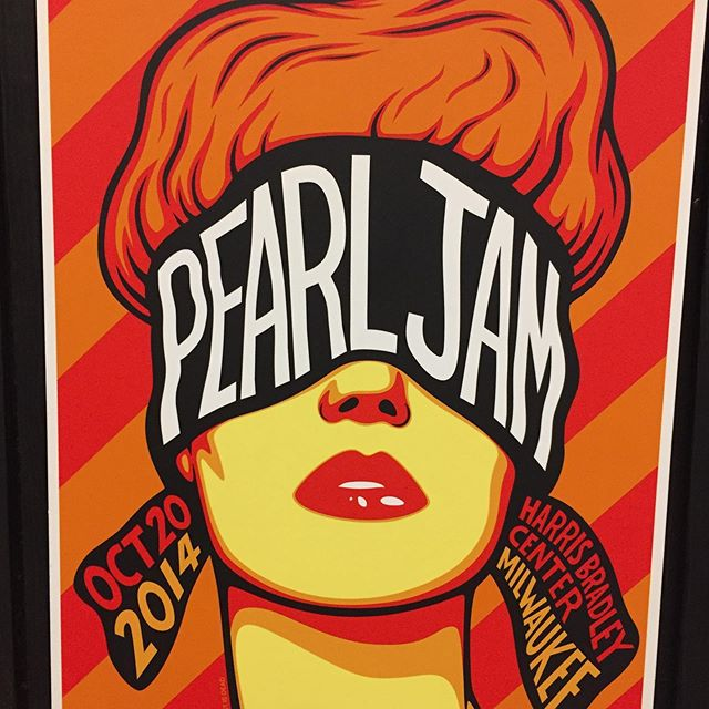 Killer @pearljam show poster art exhibit #seattle