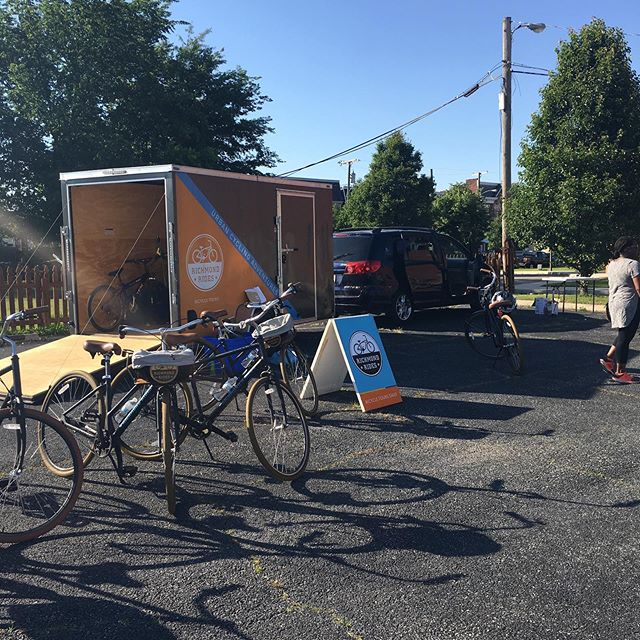 Have trailer, will travel! We have a trailer full of bikes and can meet at your location to start our amazing experiential tours! Contact us today to start planning.  #trailer #biketour #ridepriority