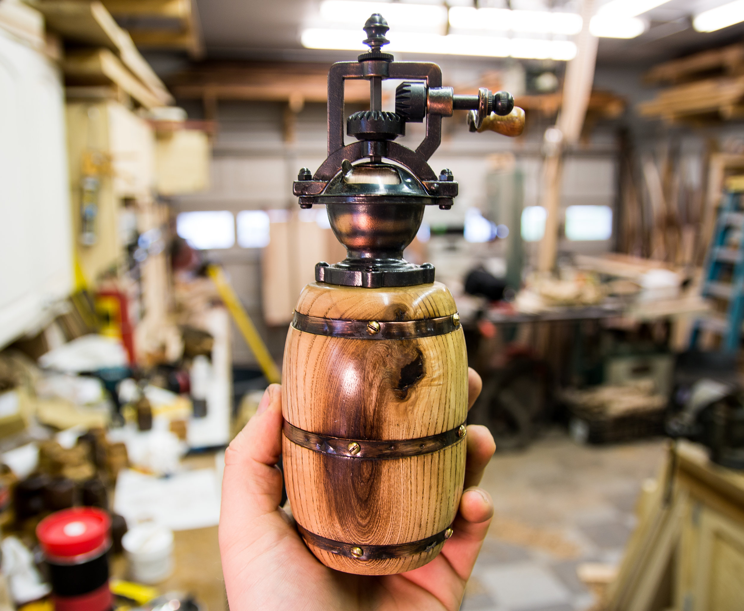 Barrel Pepper Grinder