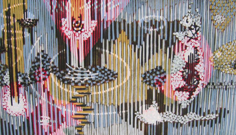 Gordon Onslow Ford, Untitled, 1950, casein/canvas, 36