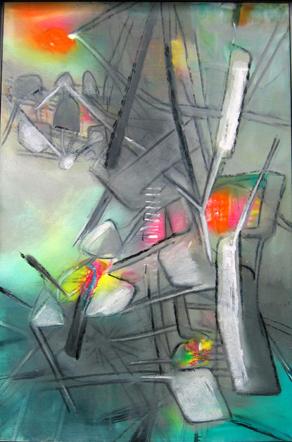 Roberto Matta, All at Wonce, 1956, oil/canvas, 43 3/4
