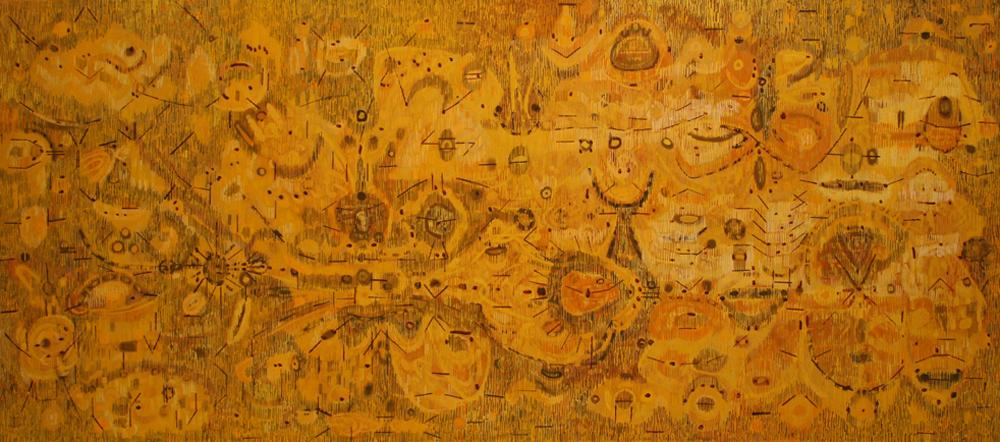 Lee Mullican, Tide of the Mud Sun, 1950, oil/canvas, 32 1/2