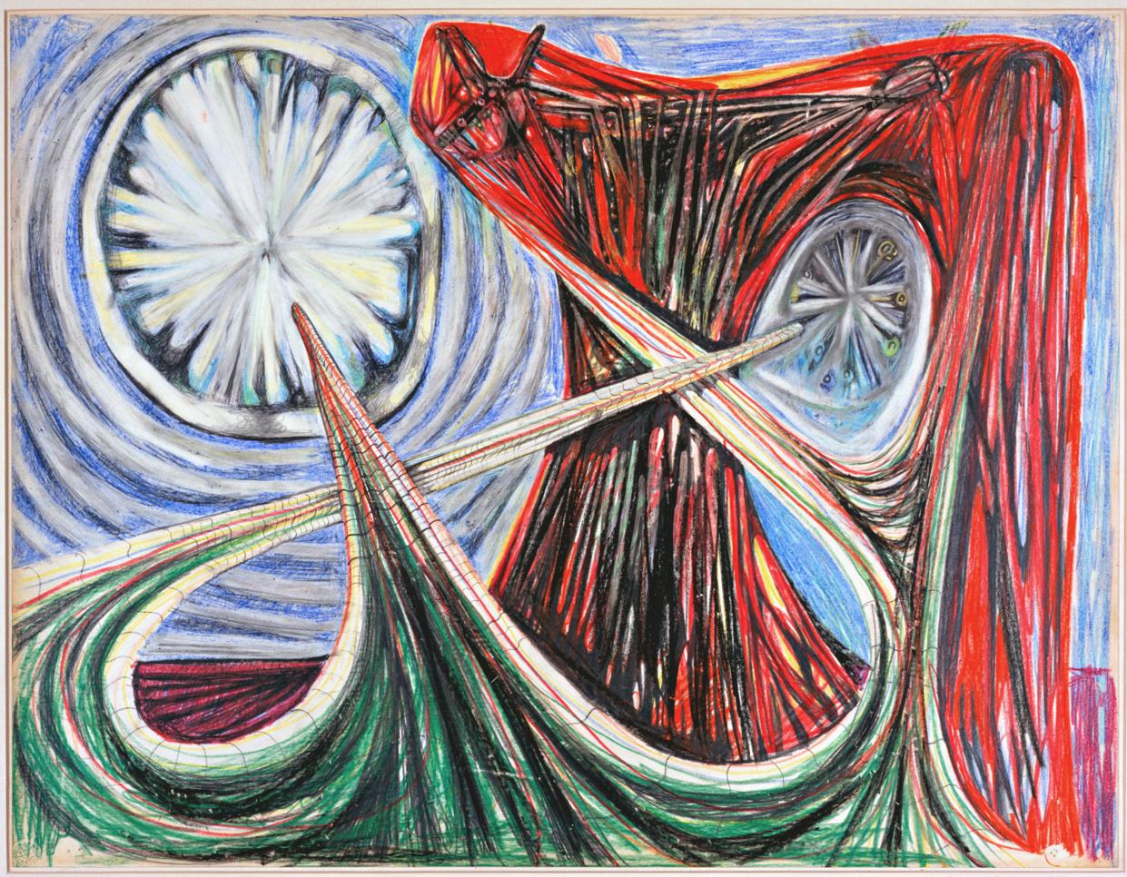 Roberto Matta Star Travel Colored pencil, Pastel on paper, 1938