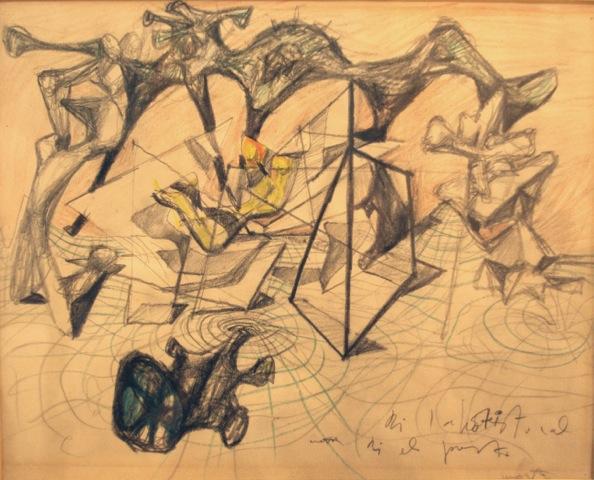 Roberto Matta Automatic Drawing Graphite, colored pencil on paper, 1938