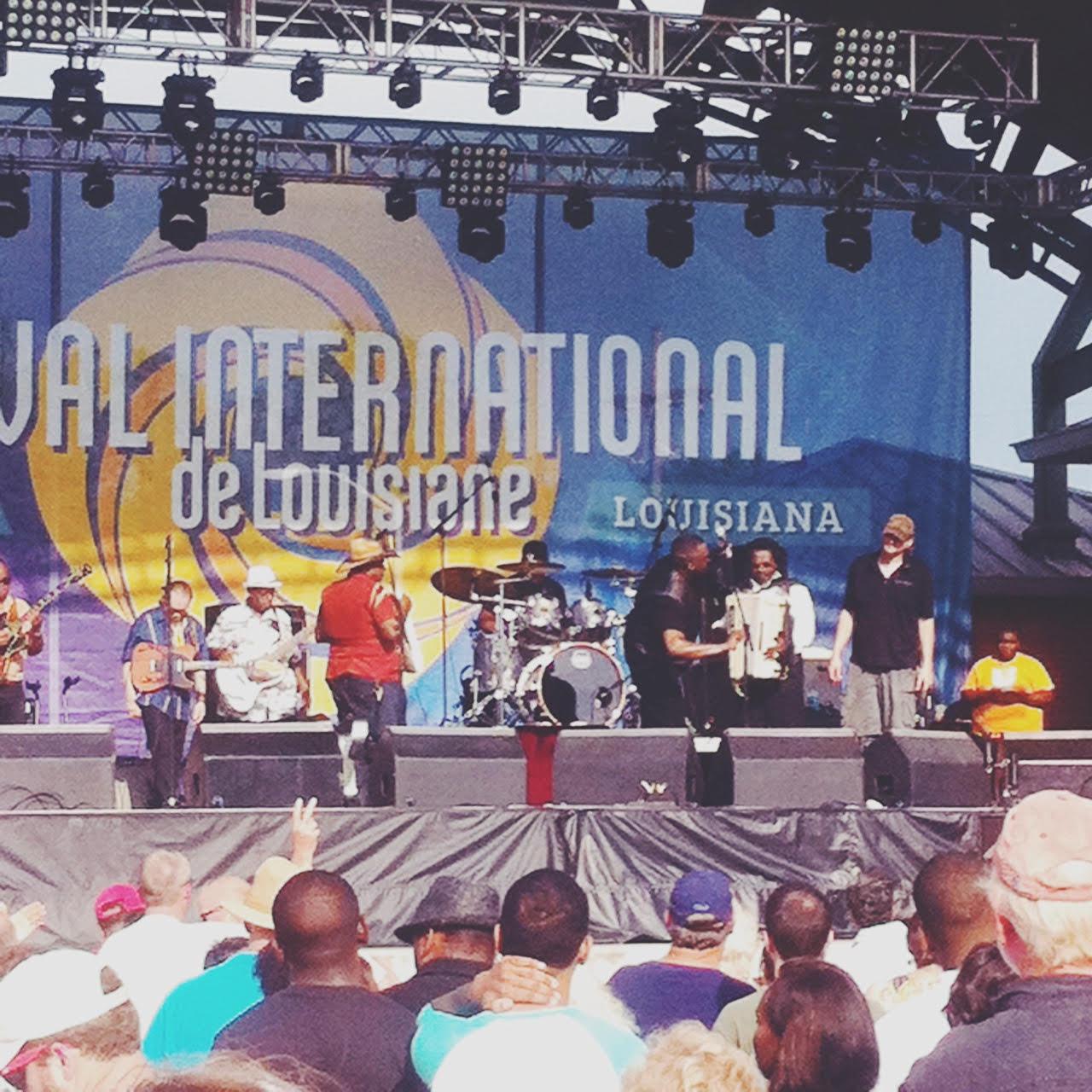 Buckwheat Zydeco headliningFestival International de Louisiana 2015