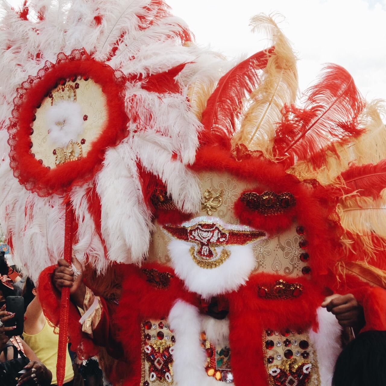 Mardi Gras Indians at Festival International de Louisiane 2015