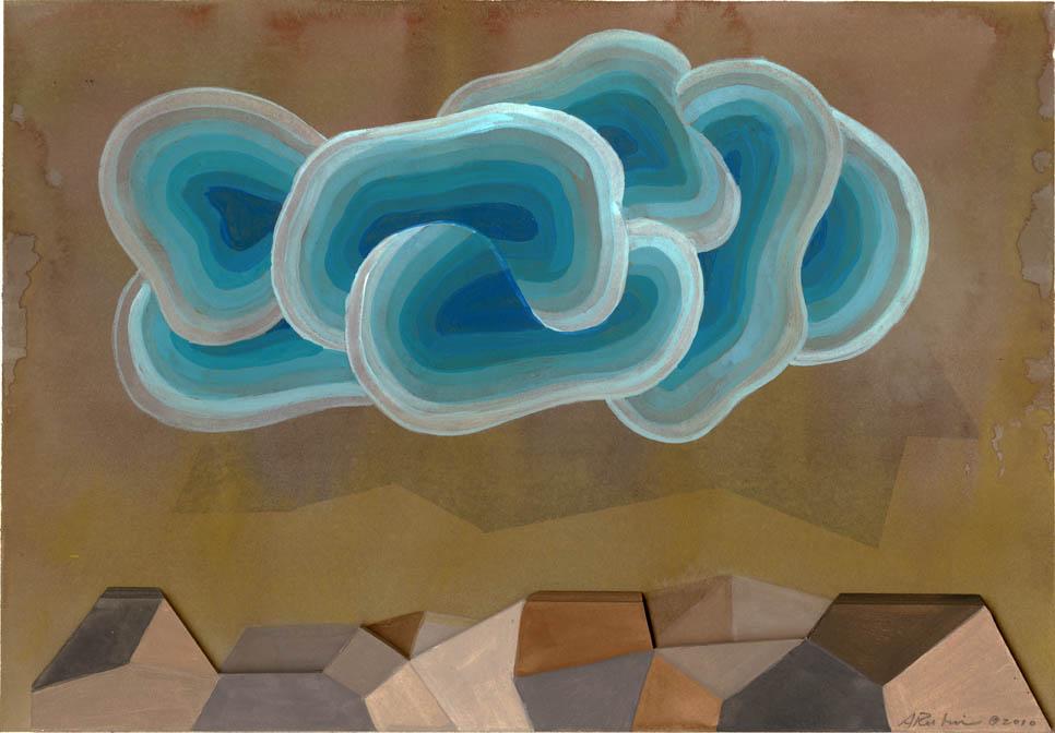 Blue Cloud Rock Shelf