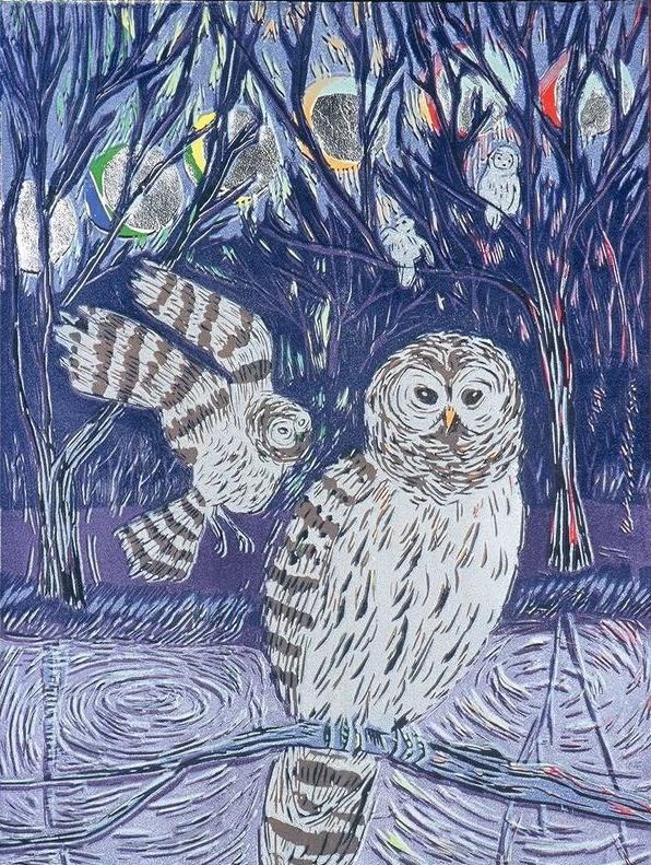 Chakra 5 Owls