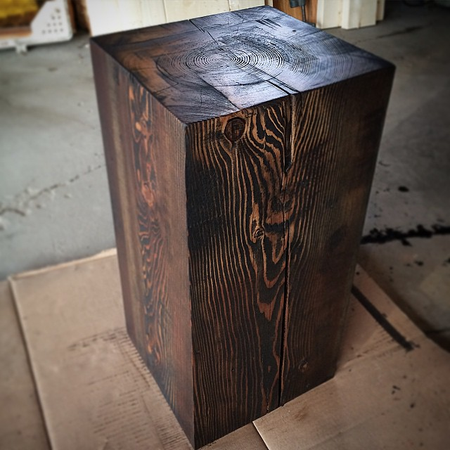 Custom timber end table