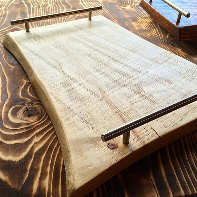 Maple serving trays