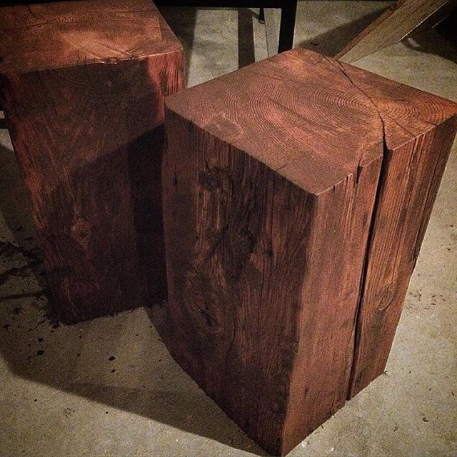 Reclaime timber end tables