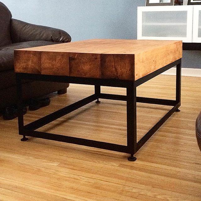 Reclaimed fir timber coffee table