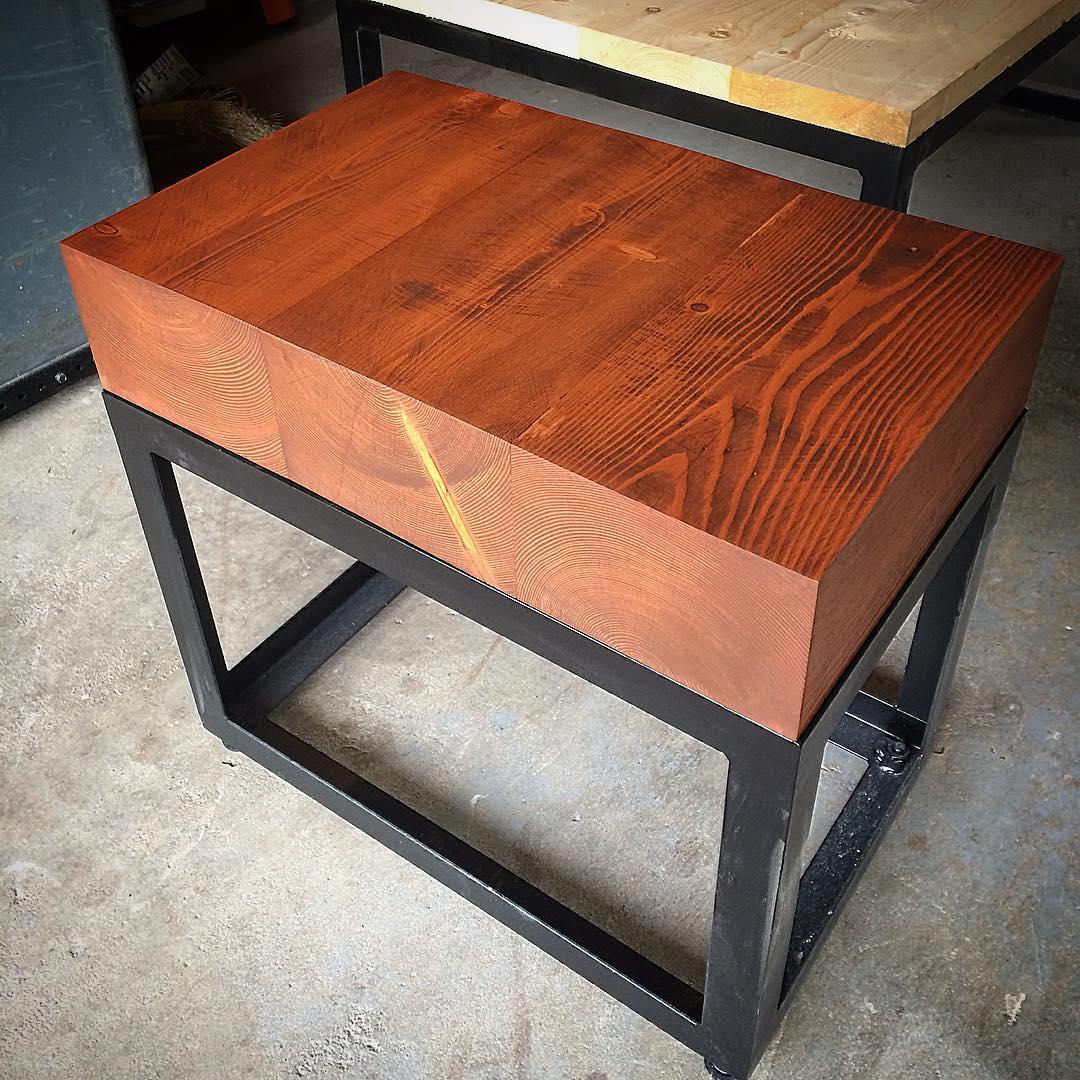 Reclaimed fir end table