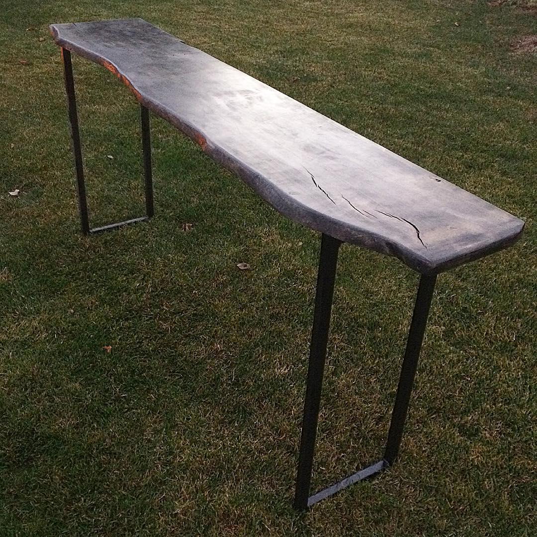 "60"" Live edge sofa table"