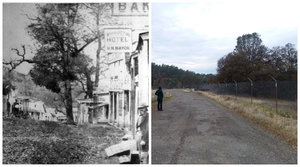 Timbuctoo in the 1860's and the exact same spot today, 2018.