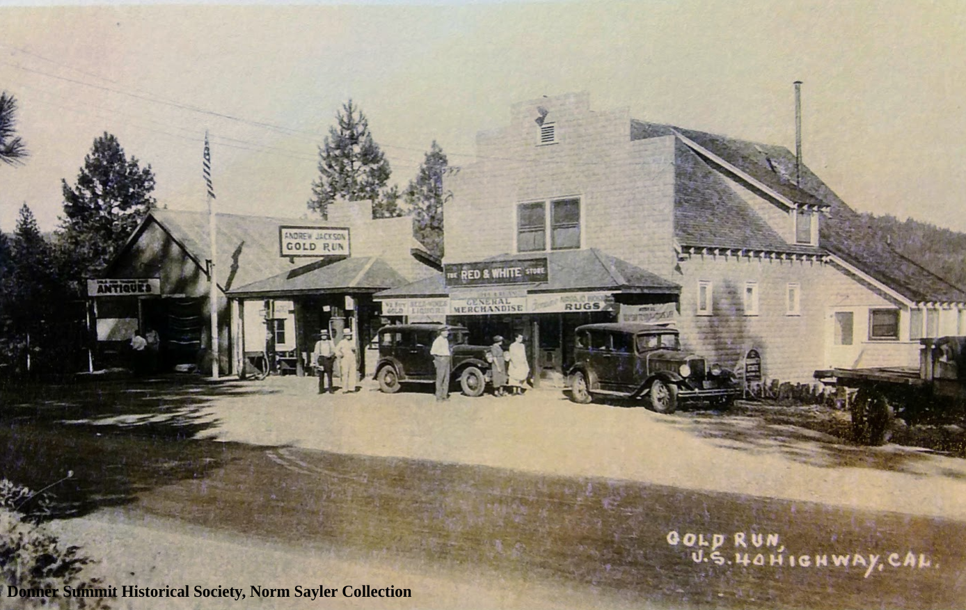 Gold Run on Highway 40. Donner Summit Historical Society, Norm Sayler collection