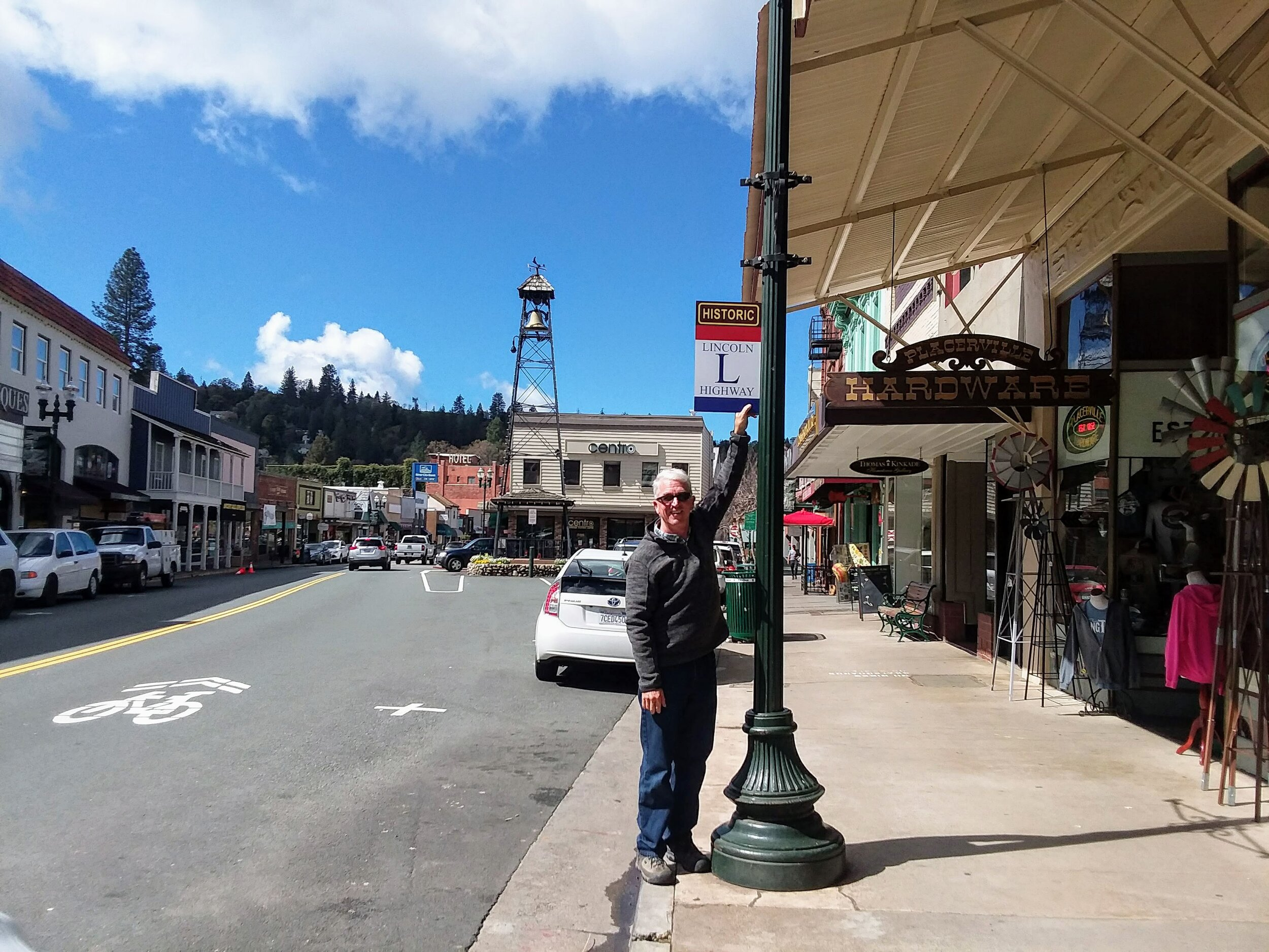 Trey on Main Street (Lincoln Highway) Placerville.